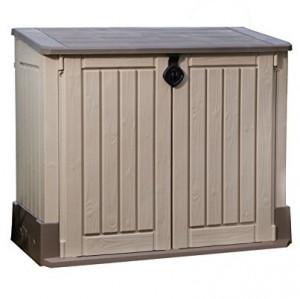 Keter - Cobertizo de jardín exterior Store It Out Midi. Color topo / beige