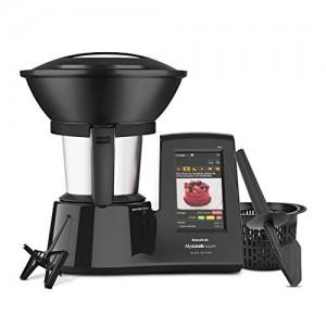 Taurus Mycook Touch Black Edition - Robot de cocina inteligente multifunción, conexión WIFI multidispositivo, pantalla táctil, cocina por inducción hasta 140ºC, recetas gratis e ilimitadas, 1600 W