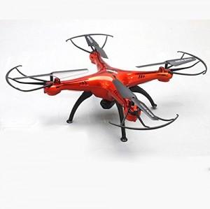 Syma X5SC-1 Drone Falcon / Cuadricópteros Teledirigido Quadcopter RC 3D 360 Grados 4CH 6 Axis 2.4GHz con 720P Cámara [ Función de Grabación Fotográfica Aérea ], Rojo