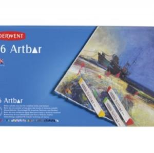Derwent Artbar - Barras de cera (36 colores, en estuche de metal)