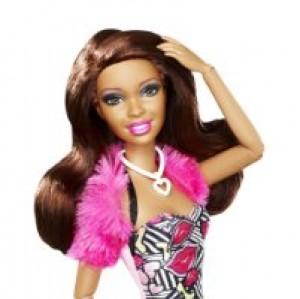 Barbie - Muñeca Fashionistas, Nikki, Color Rosa (Mattel X2275)