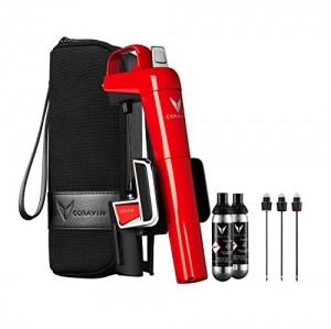 Coravin Sistema de Preservación de Vino Model Two Elite Rojo Plus Pack, Acero Inoxidable, 6 x 14 x 21 cm, 3