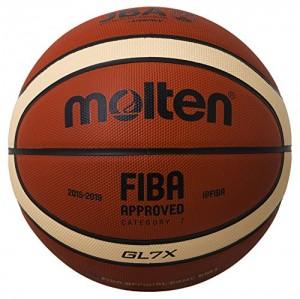 MOLTEN balón de Baloncesto, Orange/Ivory, 7, BGL7X