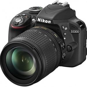 """Nikon D3300 - Cámara réflex digital de 24.2 Mp (pantalla de 3"""", estabilizador de imagen, zoom óptico de 5.8x, grabación de vídeo Full HD), negro ? kit con objetivo AF-S DX 18-105 mm VR [Versión EU]"""