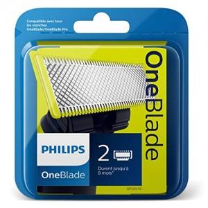 Philips Norelco OneBlade QP220/50 - Recambios para máquina de afeitar (versión extranjera), 1 paquete con 2 recambios