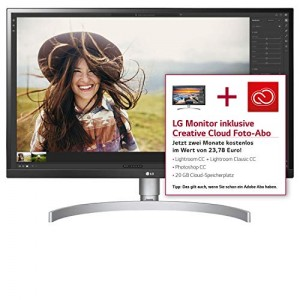 "LG 27UK650-W - Monitor de 27"" (IPS LED UHD 4K, 3840 x 2160 Pixels, 5 ms, Brillo 450, HDR 10, Screen Split) Blanco y Plata"