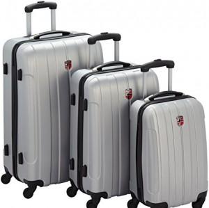 Geographical Norway  Juegos de maletas, 28 cm, 201 L, Plateado
